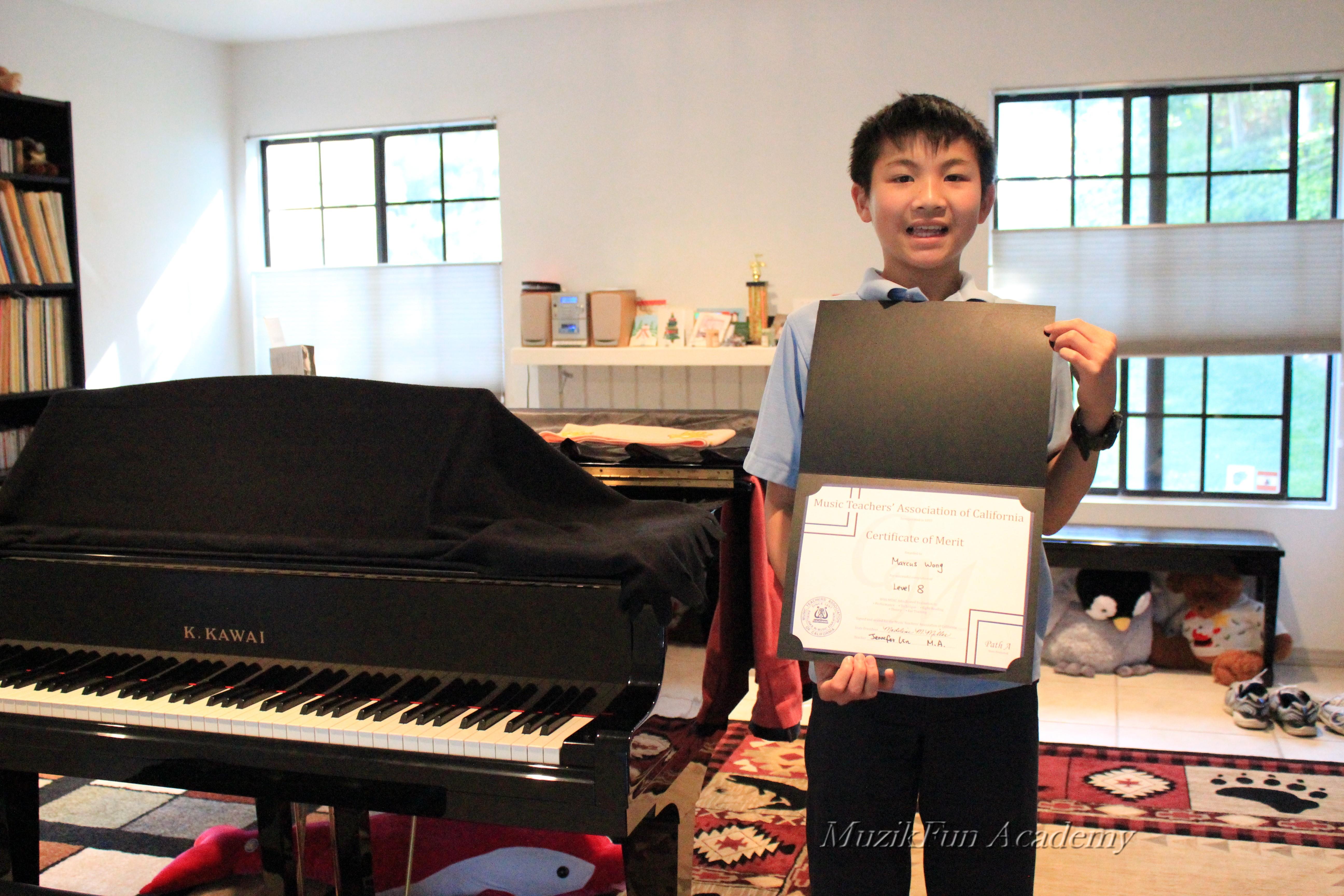 Certificate of merit cm muzikfun education marcus wong 7th grade cm level 8 xflitez Images