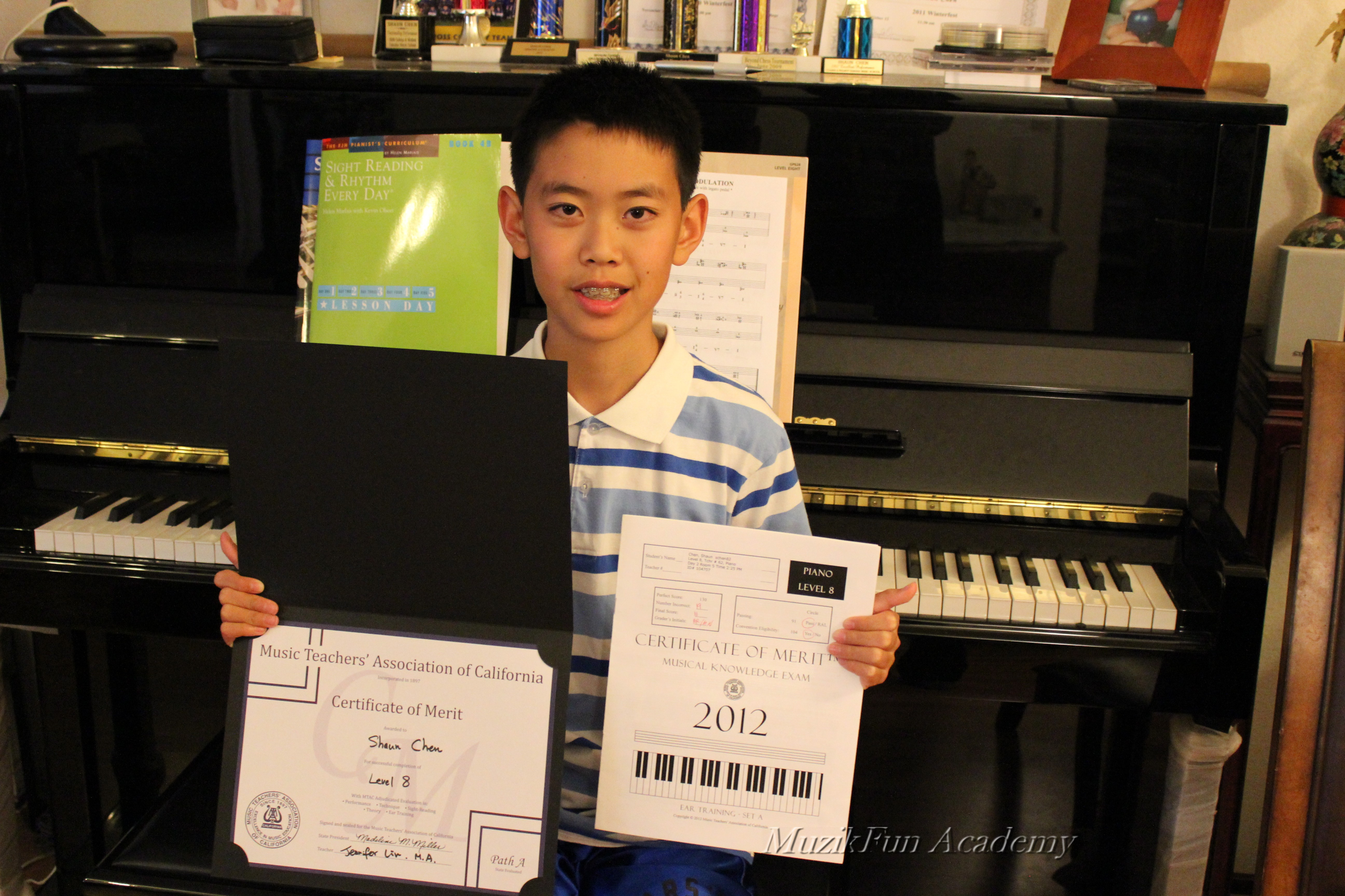 Certificate of merit cm muzikfun education shaun chen 6th grade cm level 8 xflitez Images