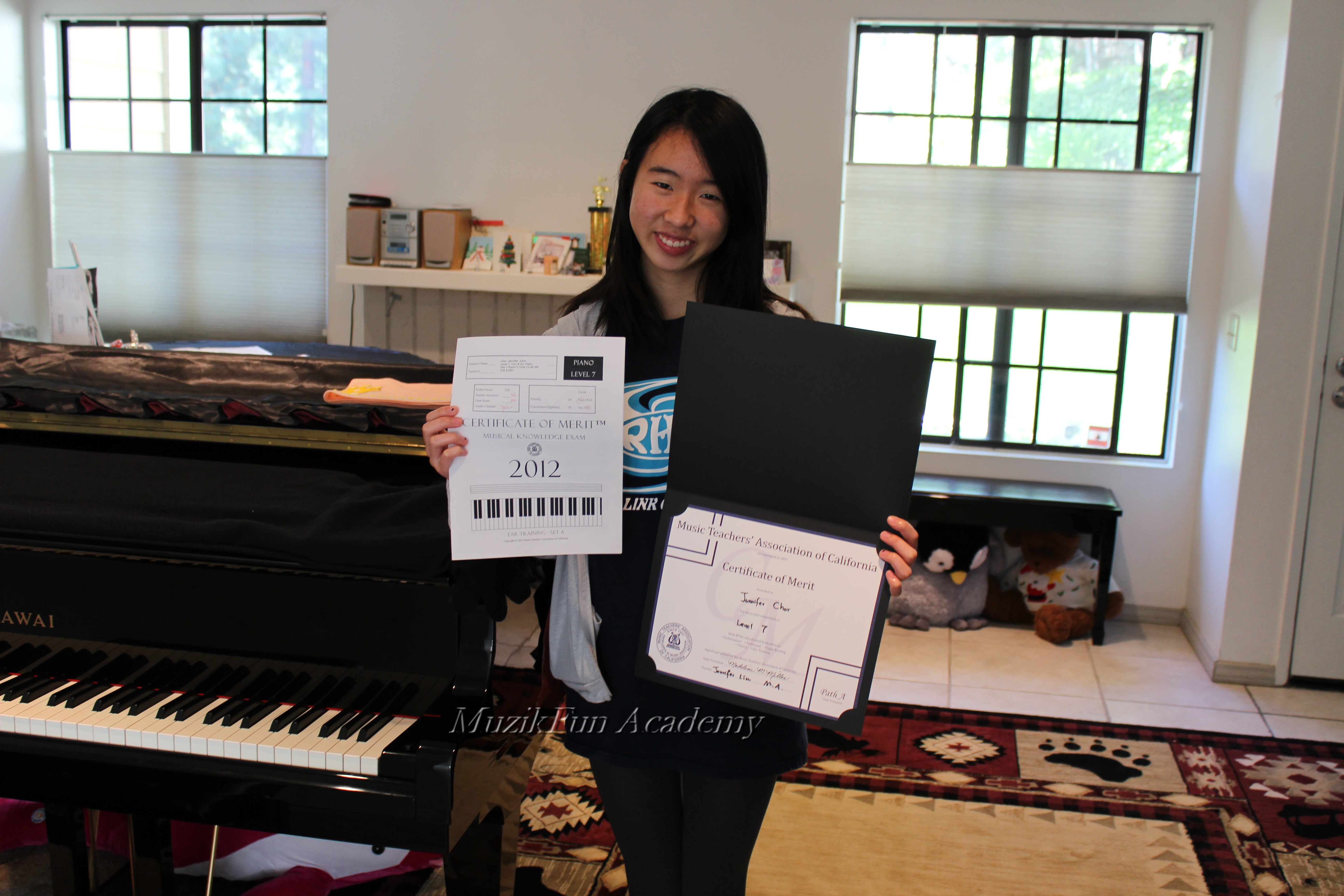 Certificate of merit cm muzikfun education jennifer chor 10th grade cm level 7 xflitez Images