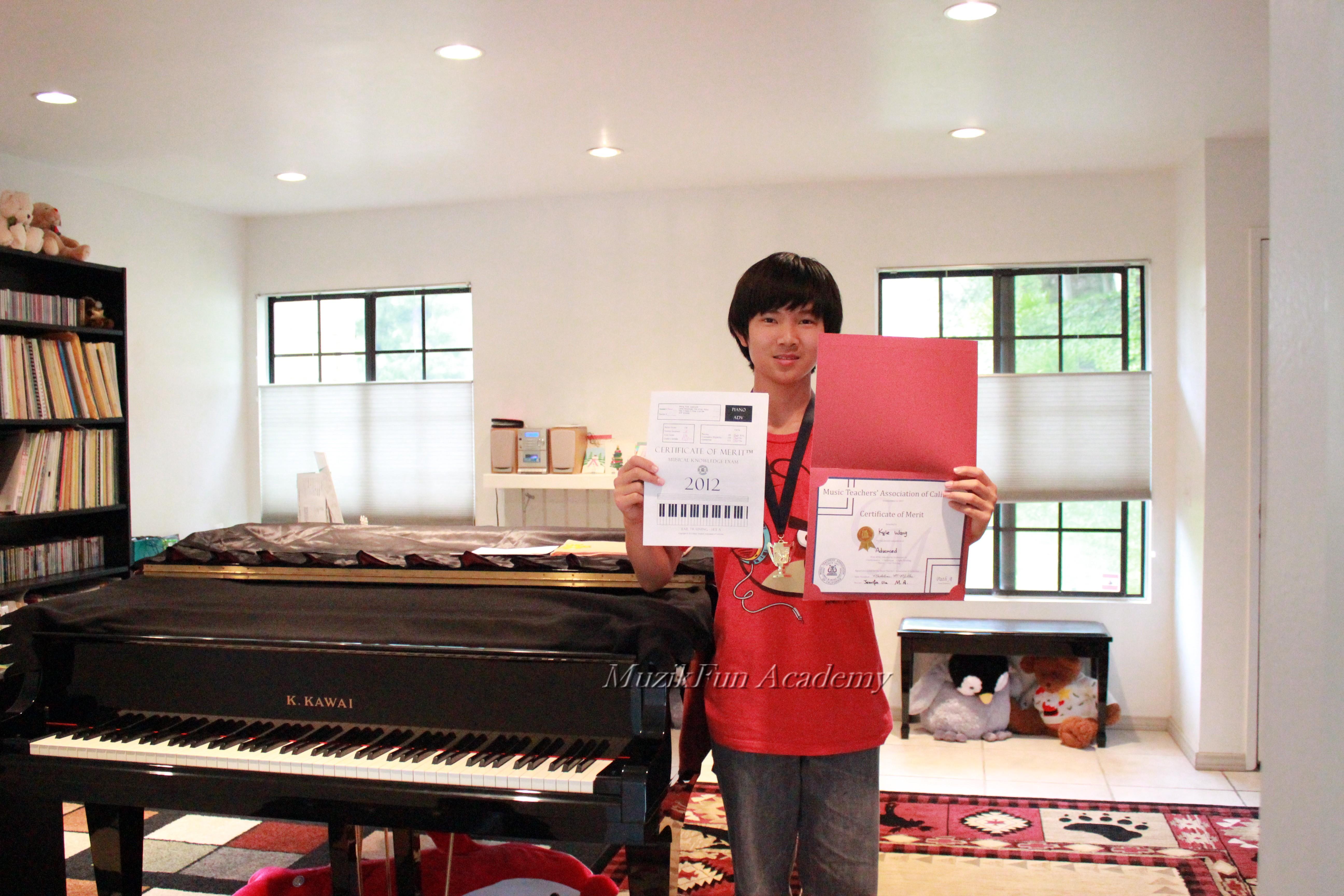 Certificate of merit cm muzikfun education kyle wang cm advanced level branch honor convention eligibility if he is xflitez Images